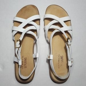White Leather Super Comfy Sandals 🕉